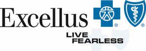 Excellus BCBS Live Fearless Logo Lockup